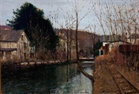 canal, lambertville - late fall by anthony michael autorino
