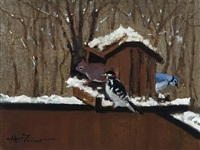 winter bird feeder by anthony michael autorino