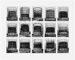 from the series typologies image vii: gas tanks by bernd and hilla becher
