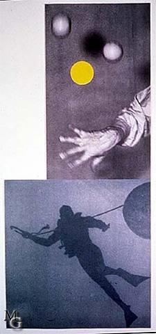juggler's hand (with diver) by john baldessari