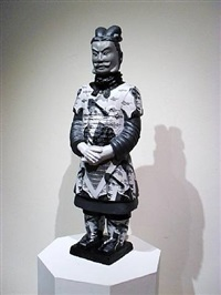 terracotta warrior james joyce by liu fenghua & liu yong