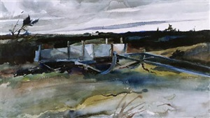 the bobsled by andrew wyeth