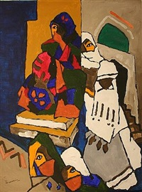 woman from yemen by maqbool fida husain