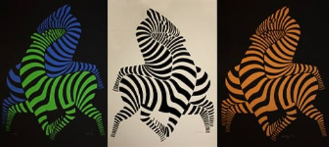 tsikos – zebras by victor vasarely