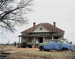house and car, near akron, alabama by william christenberry