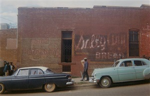 wall of building, marion, alabama by william christenberry