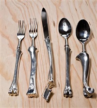 bone cutlery (5-piece dinner service set) by john gerrard