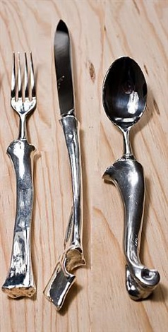 bone cutlery (3-piece dinner service set) by john gerrard