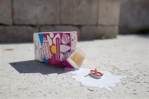 spilt milk, grottaglie, italy by slinkachu