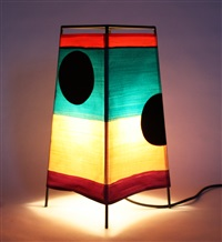 pyramid lamp by mary heilmann