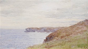 a view of horsehead from the site of the artist's conanicut island home by william trost richards