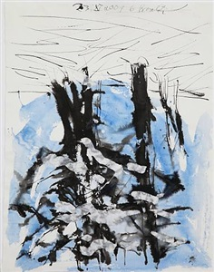 ohne titel, 23. xi 2007 by georg baselitz