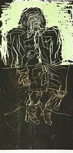 maler im mantel - zwei streifen (remix) by georg baselitz