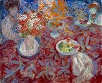 niñas alrededor de una mesa by emilio grau sala