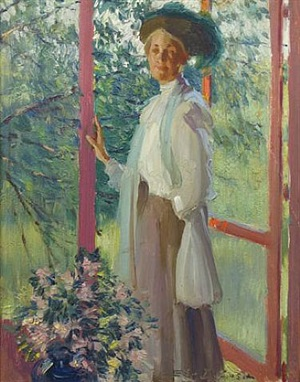 the artist's wife by edward dufner
