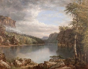 lake mohonk by daniel huntington