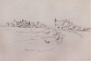 english coastal village, aug. 31, 1878 by william trost richards