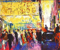opening night on broadway by leroy neiman