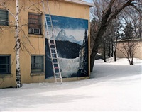 ladder in snow - st. anthony idaho by alexis pike