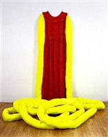 certainly (chartreuse) / really (red) by beverly semmes