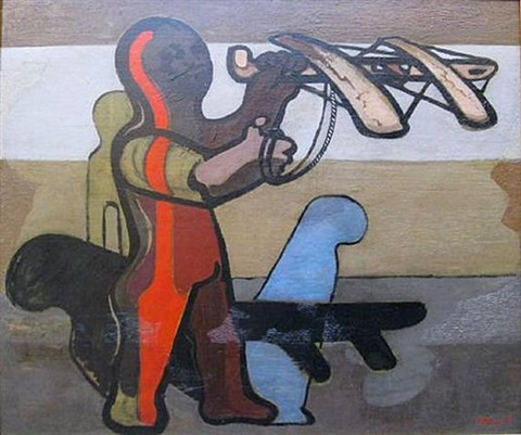 boy with catapult by jankel adler