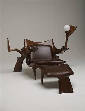 custom lounge chair & ottoman by jack rogers hopkins