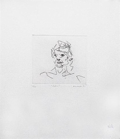 julia, from six etchings of heads by frank auerbach