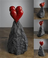 new other heart on a rock by jim dine