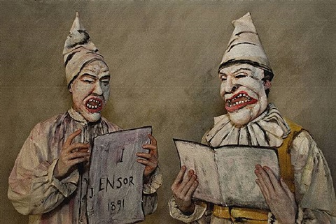 grotesque singers (after ensor) by philip haas
