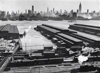 untitled (view of brooklyn piers and manhattan across the east river, new york) by esther bubley