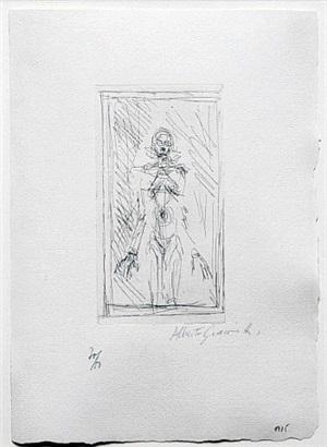 small standing nude by alberto giacometti