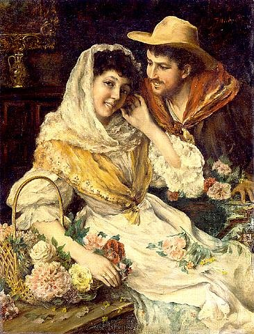 courting couple (nn-311) by federico andreotti