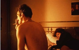 nan and brian in bed, nyc by nan goldin