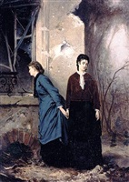 two ladies by alfred abouy-rebouet