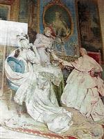 cardinal having tea by ettore simonetti