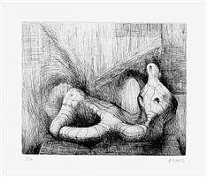 reclining figure piranesi background ii by henry moore