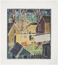provincetown backyards by blanche lazzell