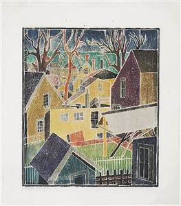 blanche lazzell white-line color woodcuts by blanche lazzell