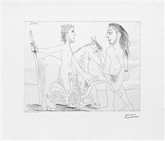television: combat de chars a l'antique, from the 347 series, 11 april by pablo picasso