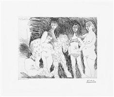 vieil homme pensant a sa jeunesse: garcon sur un chevel de cirque et femmes, from the 347 series, 1 april by pablo picasso