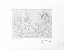 raphael et la fornarina x: le pape a fait apporter son fauteuil, from the 347 series, 2 september by pablo picasso