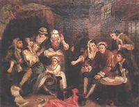 scene from a rake progress by william hogarth
