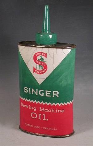 Singer Sewing Machine Oil By Karen Shapiro On Artnet Impressive Singer Sewing Machine Oil Tin