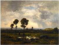 la mare au fin dorage (marsh after a storm) by narcisse virgile diaz de la peña
