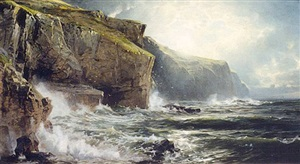 british coastal view by william trost richards