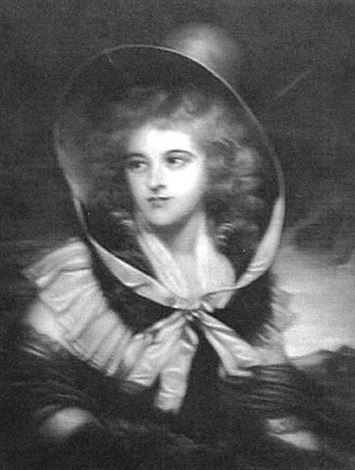 print of a portrait of a lady