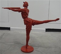 woman soldier dancing ballet by huang gang