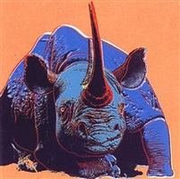 endangered species: black rhinoceros by andy warhol