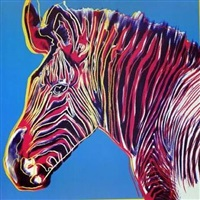 endangered species: grevy's zebra by andy warhol