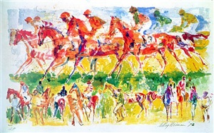 racing by leroy neiman